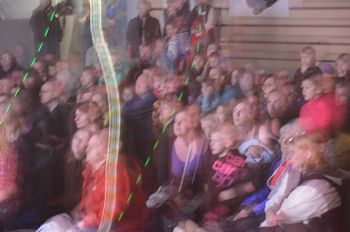 Dazzled audience