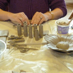 Making clay art
