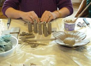 Making clay art