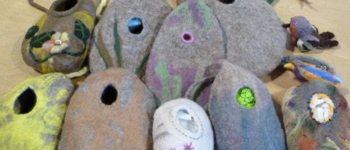 Clay birdboxes