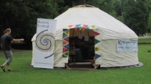 Yurt at Buxton Festival