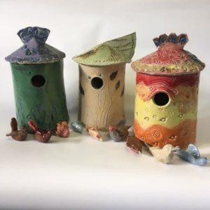 ceramic bird boxes