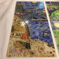 One fused glass panel for Corbar View